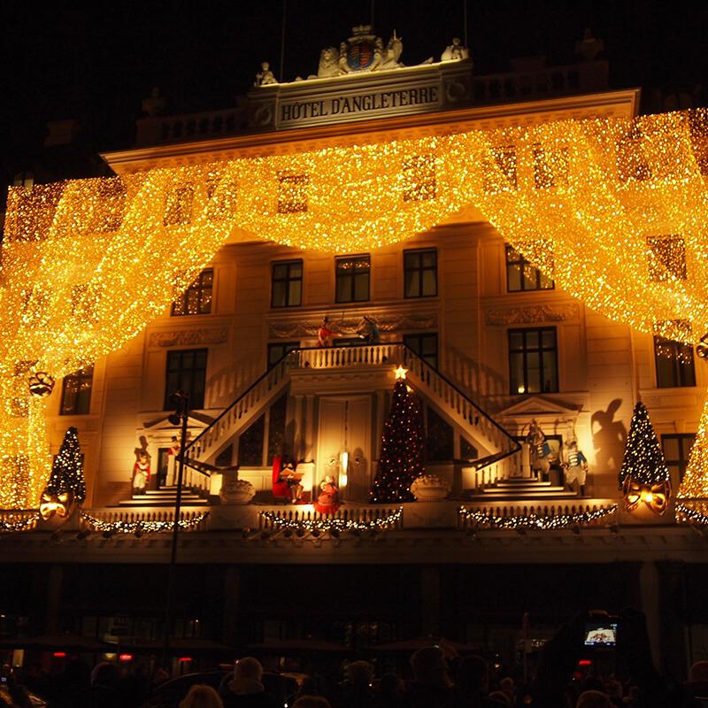 Julebelysning på Hotel