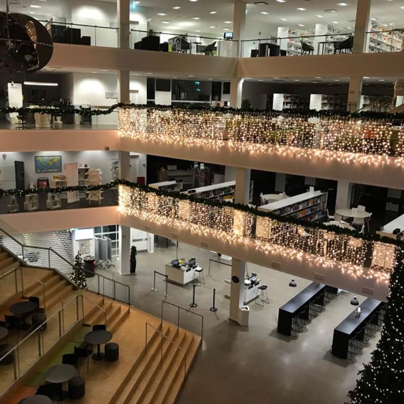 Julebelysning og sæson belysning på VIA University College